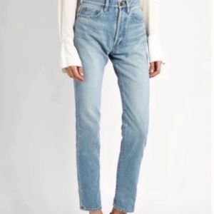 Blank NYC high rise tapered leg light was jeans